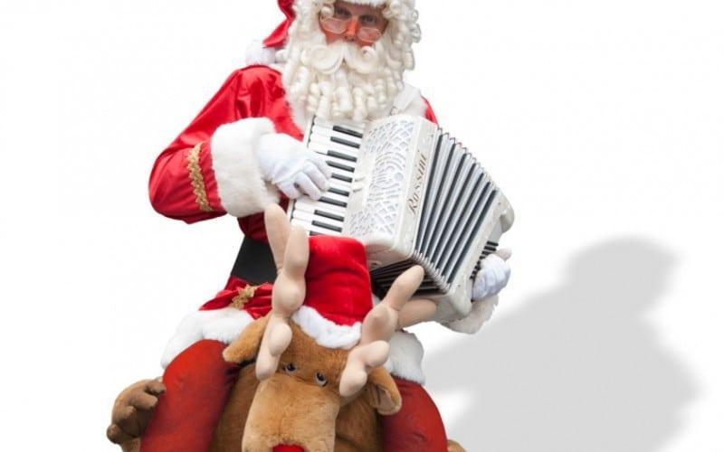 Kerstman met Rudolph